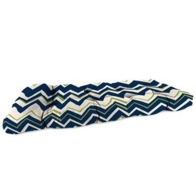 18-Inch x 44-Inch Wicker Settee Cushion in Tempest Navy