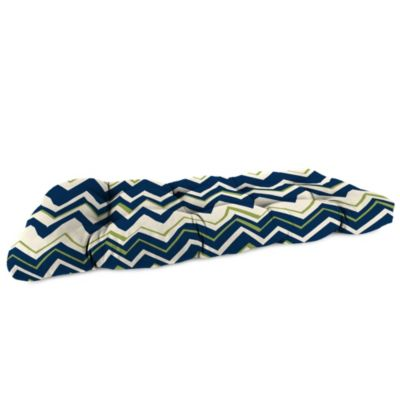 19-Inch x 46-Inch Wicker Settee Cushion in Tempest Navy