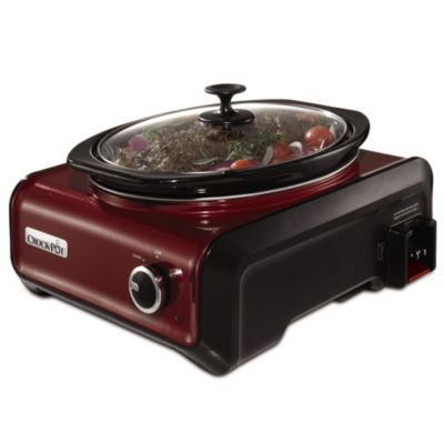 Crock-Pot® 3.5-Quart Oval Hook Up™ Connectable Entertaining System in Red