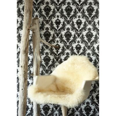Tempaper® Double Roll Removable Wallpaper in Damsel White and Black