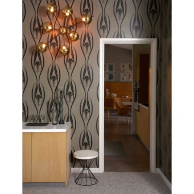 Tempaper® Double Roll Removable Wallpaper in Etta Black and Clay