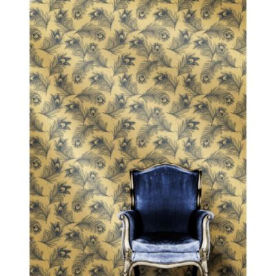 Tempaper® Double Roll Feathers Collection Removable Wallpaper in Twilight