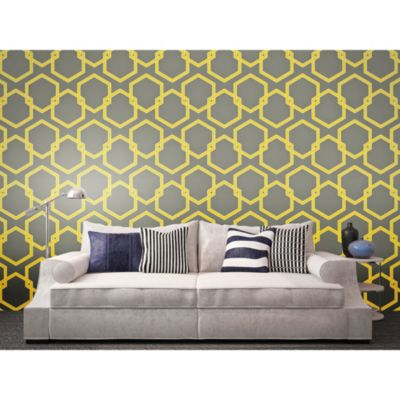 Tempaper® Double Roll Removable Wallpaper in Honeycomb Citron