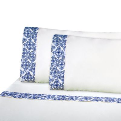 IMAN HOME Ibiza Embroidered Standard Pillowcase Set
