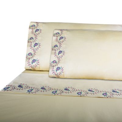 IMAN HOME Morocco Embroidered Standard Pillowcase Set