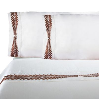 IMAN HOME Hollywood Embroidered Queen Sheet Set