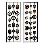 Metal Mirror Wall Decor in Circle Panel