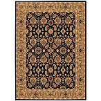 Couristan® All Over Vase Rug in Black/Deep Maple