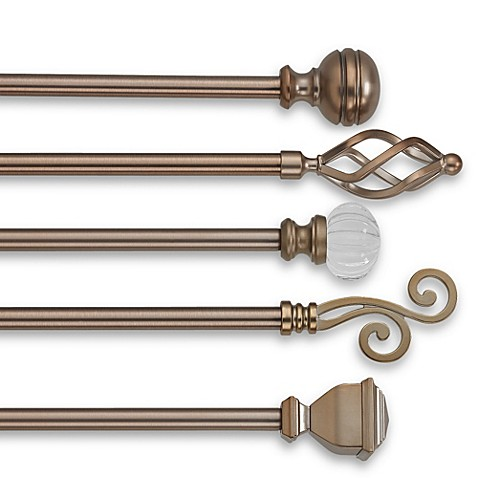 Cambria Classic Complete Decorative Window Curtain Hardware In Warm Gold Bed Bath Beyond