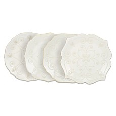Lenox® French Perle Accent Plates in White (Set of 4)