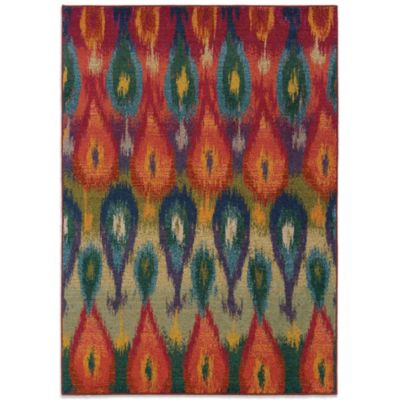 Oriental Weavers Kaleidescope 7-Foot 8-Inch Round Contemporary Rug in Multi Tribal