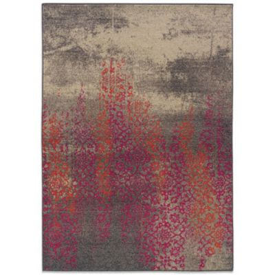 Oriental Weavers Kaleidescope 2-Foot 7-Inch x 10-Foot Contemporary Rug in Gray/Pink