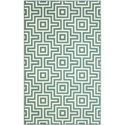 Baja 5-Foot 3-Inch x 7-Foot 6-Inch Indoor/Outdoor Rug in Blue