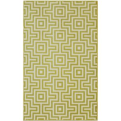 Baja 5-Foot 3-Inch x 7-Foot 6-Inch Indoor/Outdoor Rug in Green
