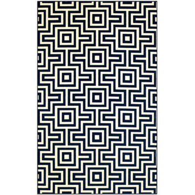 Baja 5-Foot 3-Inch x 7-Foot 6-Inch Indoor/Outdoor Rug in Navy