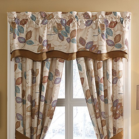 Buy Croscill 174 Mosaic Leaves Window Valance From Bed Bath