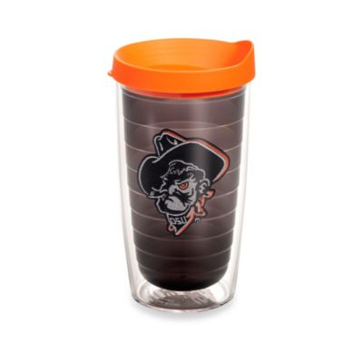 Tervis® Oklahoma State University Shadow Pete Emblem 16 oz. Tumbler in Brown with Orange Lid