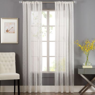 Terrace 84-Inch Rod Pocket Sheer Window Curtain Panel in Ivory