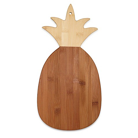Totally Bamboo Pineapple Shaped Cutting Serving Board