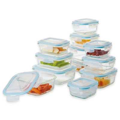 24-Piece Glass Food Storage Set with Easy Snap Lids