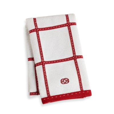 Calphalon Plaid Kitchen Towel in Tomato