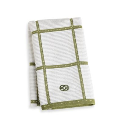 Calphalon Plaid Kitchen Towel in Wasabi