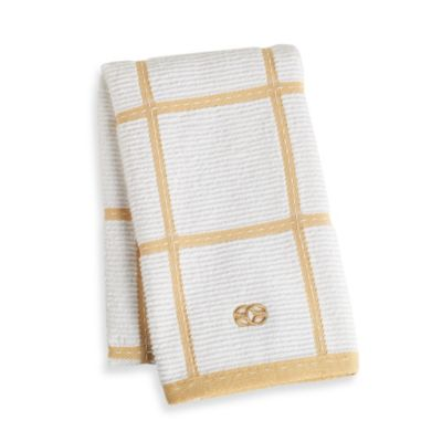 Calphalon Plaid Kitchen Towel in Dijon
