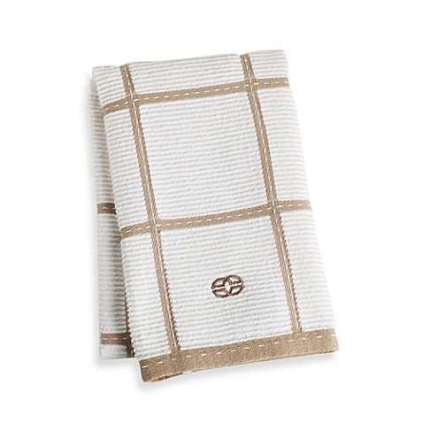 Calphalon Plaid Kitchen Towel in Biscotti