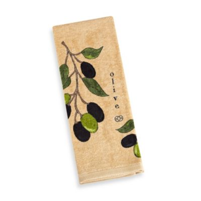 Calphalon Fiber Reactive Print Kitchen Towel in Biscotti