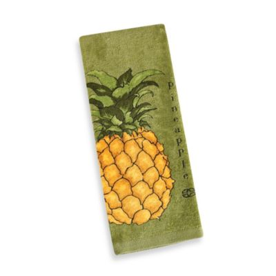 Calphalon® Wasabi Print Kitchen Towel in Pineapple