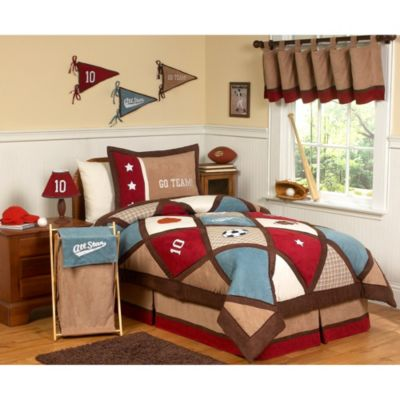 Sweet Jojo Designs All Star Sports 3-Piece Full/Queen Bedding Set