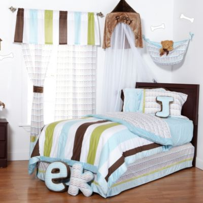 Blue Striped Full Comforter