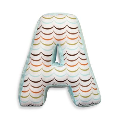 "One Grace Place Puppy Pal Letter ""A"" Pillow"