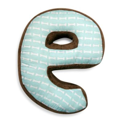 "One Grace Place Puppy Pal Letter ""E"" Pillow"