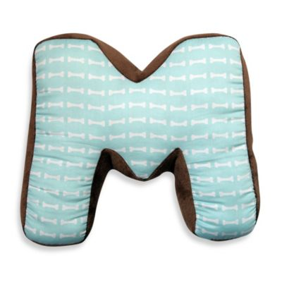 "One Grace Place Puppy Pal Letter ""M"" Pillow"