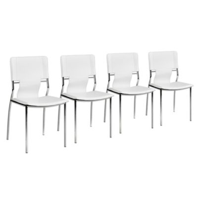 Zuo® Modern Trafico Dining Chairs in White (Set of 4)