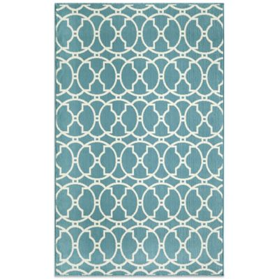 Momeni Baja Indoor/Outdoor 5-Foot 3-Inch x 7-Foot 6-Inch Rug in Blue
