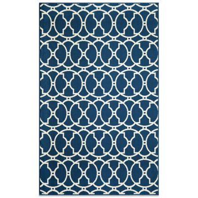 Momeni Baja Indoor/Outdoor 7-Foot 10-Inch x 10-Foot 10-Inch Rug in Indigo