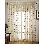 Madeline Sheer Embroidered Leaf Window Panel