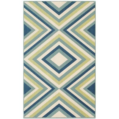 Momeni Baja Indoor/Outdoor 7-Foot 10-Inch x 10-Foot 10-Inch Rug in Multi
