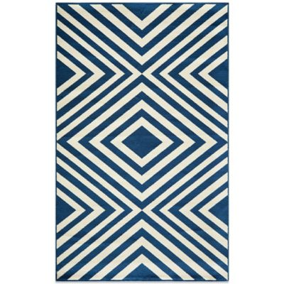Momeni Baja Indoor/Outdoor 5-Foot 3-Inch x 7-Foot 6-Inch Rug in Navy