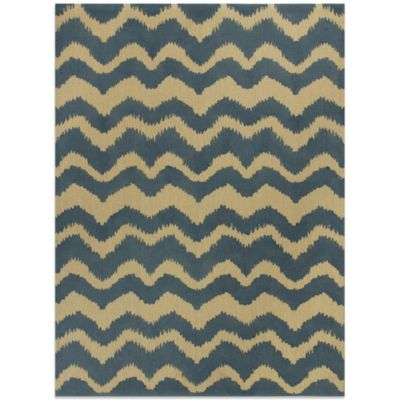 Chevron Rug in Blue