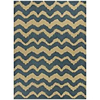 KAS® Chevron Rug in Blue