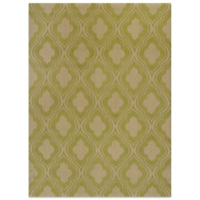 KAS Natura 2-Foot 3-Inch x 3-Foot 9-Inch Rania Area Rug in Lime