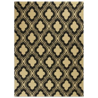 KAS Natura 8-Foot x 10-Foot Rania Area Rug in Black