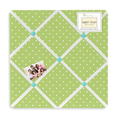 Sweet Jojo Designs Hooty Fabric Memo Board in Turquoise/Lime