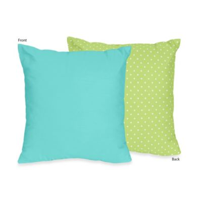 Sweet Jojo Designs Hooty Decorative Throw Pillow in Turquoise/Lime