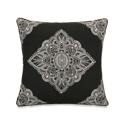 Jessica Simpson Charlotte Lace Embroidery Square Throw Pillow