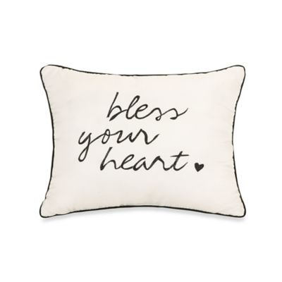 "Jessica Simpson Charlotte ""Bless Your Heart"" Oblong Throw Pillow"