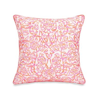 Jessica Simpson Sherbet Lace Square Throw Pillow